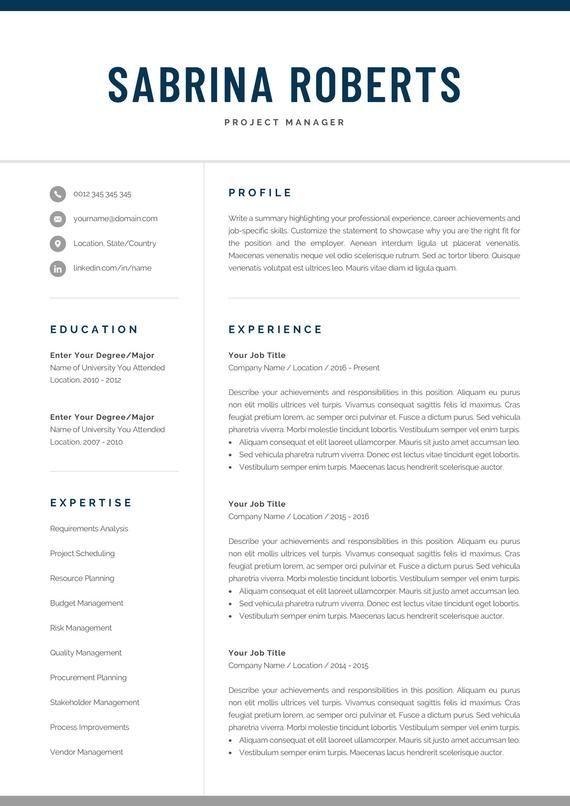 Resume Template | Professional Resume | CV Template | Modern
