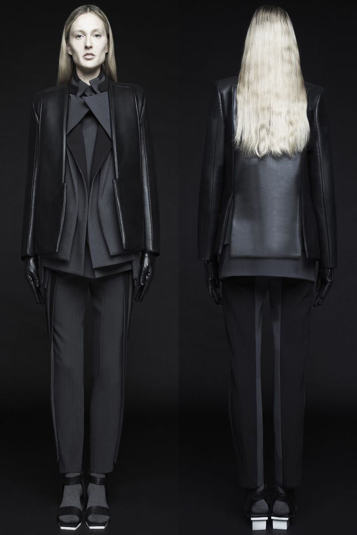 Contemporary Fashion with graphic lines & layers; innovative pattern cutting // RAD by Rad Hourani