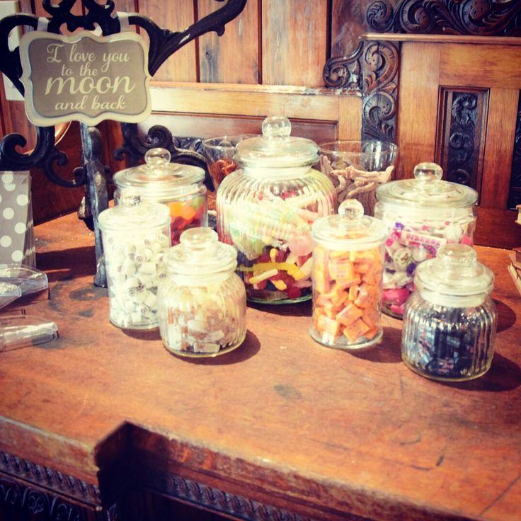 DIY candy bar  Rustic/vintage weddings English sweets