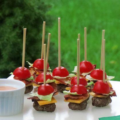 Mini Burgers on a Stick