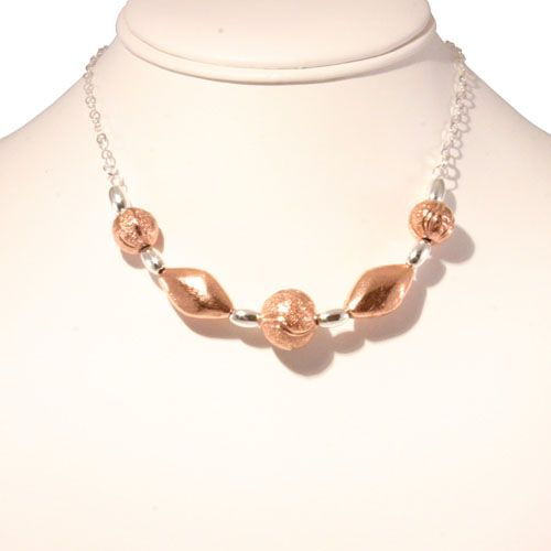 Elas Jewellery Box - CS229 - Copper and sterling silver necklace