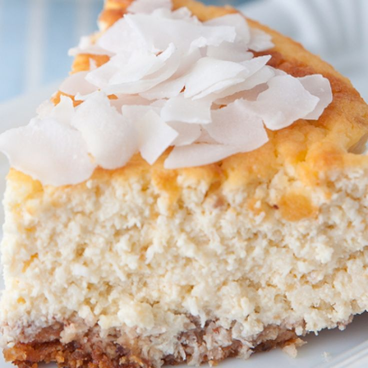 This coconut cheesecake recipe is for a cheesecake that is baked in a water bath.  This helps to bake the cheesecake evenly and give it a creamy texture.. Coconut Cheesecake Recipe from Grandmothers Kitchen.
