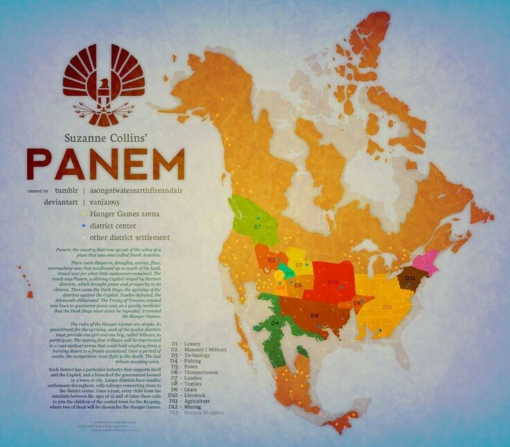 Best US Maps Images On Pinterest United States States And - Hunger games mapped on us