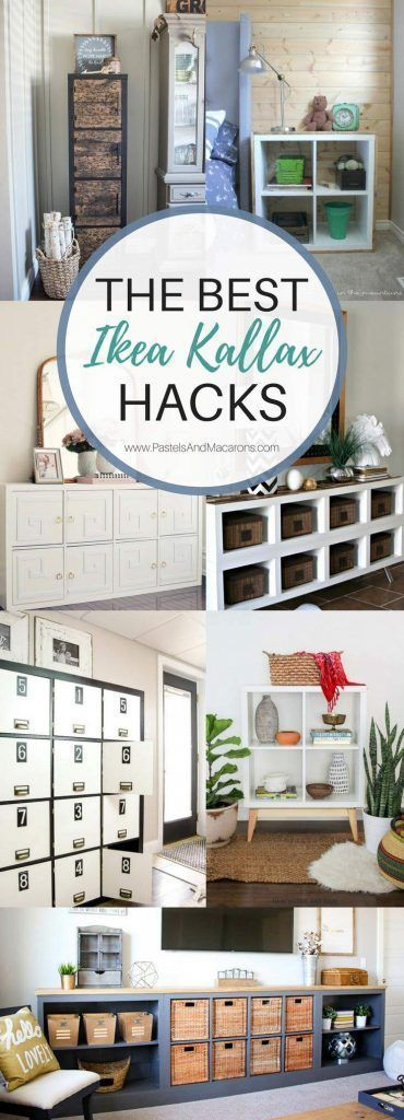 20 OF THE BEST Ikea Kallax Hacks to organize your entire home