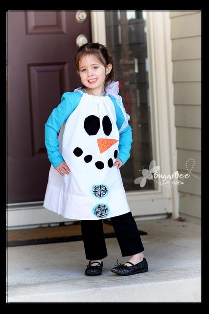 Snowman Pillowcase Dress - tutorial