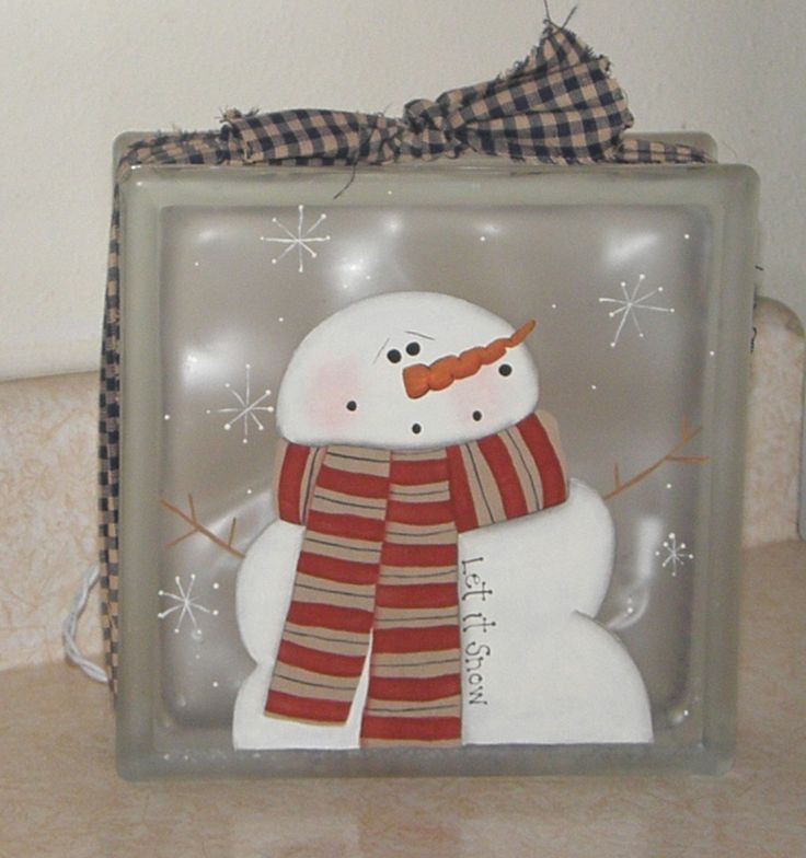 glass block crafts | Painting on glass blocks is really big these days. This is one that I ...