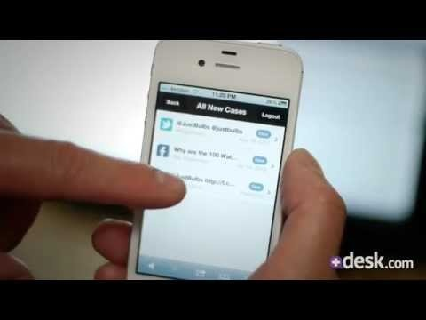 Desk.com customer support app demo video