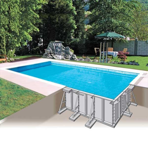 Las 25 mejores ideas sobre piscine enterr e en pinterest for Kit piscine a debordement
