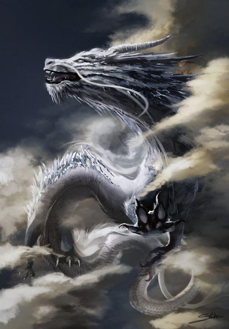 Weißer Drache von Skyrawathi.devian … auf @DeviantArt #adeviantart #devian #drache #skyrawathi