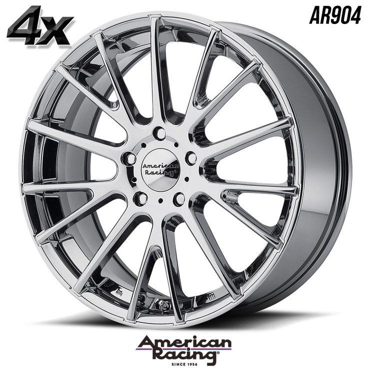 "4 American Racing AR904 16""x7"" 5x115 Chrome OFST:40mm 16 Inch Rims 16X7 Wheels"