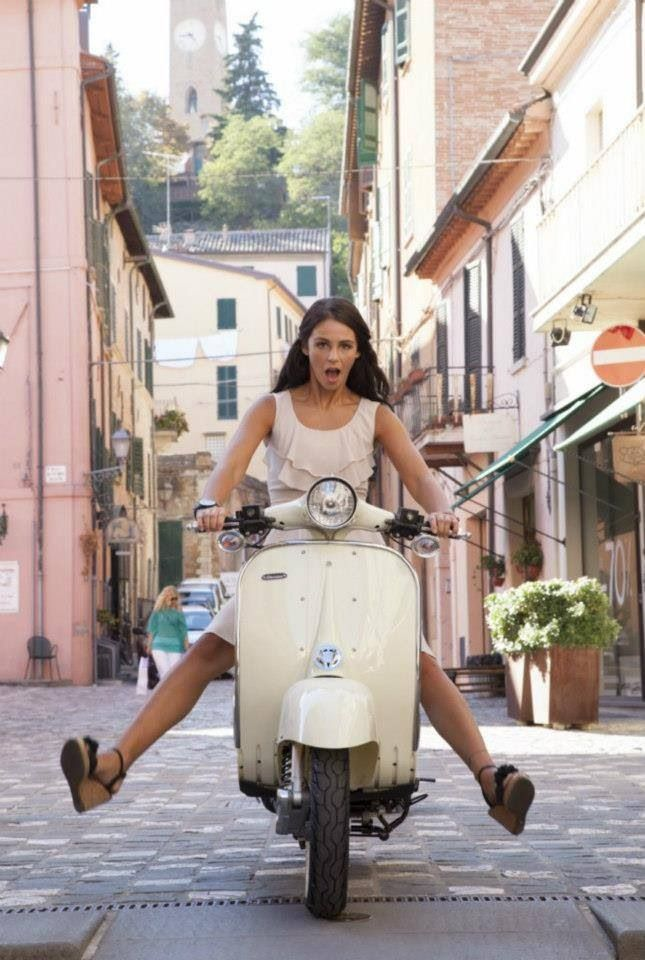 Not me, but probably the face I make when I give a bit too much throttle!  Vespa