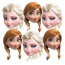 Masken Frozen - Prinzessinnen