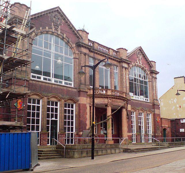 Burslem School of Art- now the library. http://en.wikipedia.org/wiki/Burslem_School_of_Art