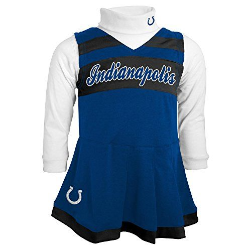 3d37ddb72 NFL Indianapolis Colts Girls Cheer Jumper Dress with Turtleneck Set 4T  Speed Blue    You can get more details by clicking on the image.