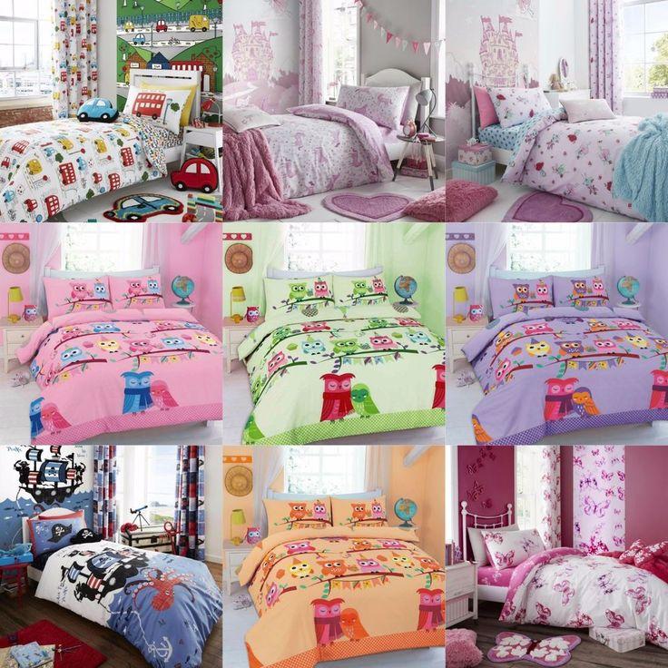 BABY JUNIOR BOYS GIRLS UNISEX COT BED DUVET QUILT COVER BEDDING SET