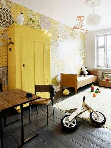 Deco jaune chambre enfant chambres couleurs espaces réservés aux enfants les chambres denfants de cru salons jaunes design de chambre denfants