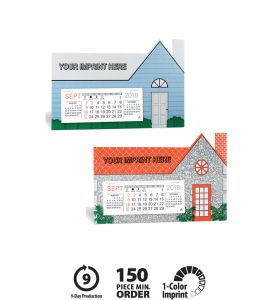 Product: 7D204 The Estate Desktop 2018 Calendar Basic custom imprint setup & PDF proof included! Designed for realtors, mortgage brokers, builders and contractors, The Estate is a die-cut, house-shaped desk promotional calendar! Available in two color options with black imprint, this calendar is the perfect advertising tool for home & building related organizations. Warwick / 419