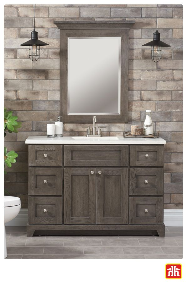 Make a statement in your bathroom with a new vanity.