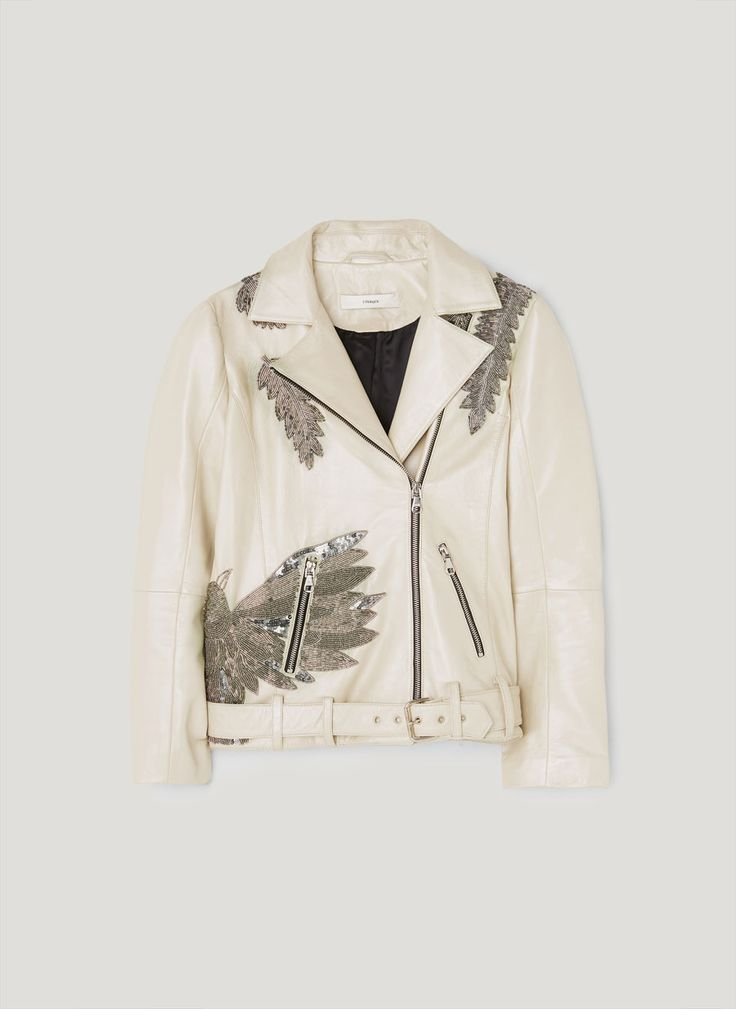 Jacket with embroidered birds - Outerwear and leather - Clothing - Uterqüe Spain - Canary Islands