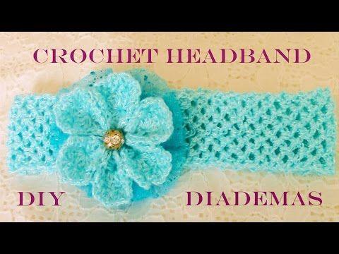 DIY flores en diademas tejidas con los dedos - flowers in woven headbands with fingers - YouTube