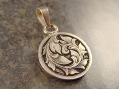 Hand Engraved Silver Dime Love Token Pendant by JelliesJewelry, $92.00