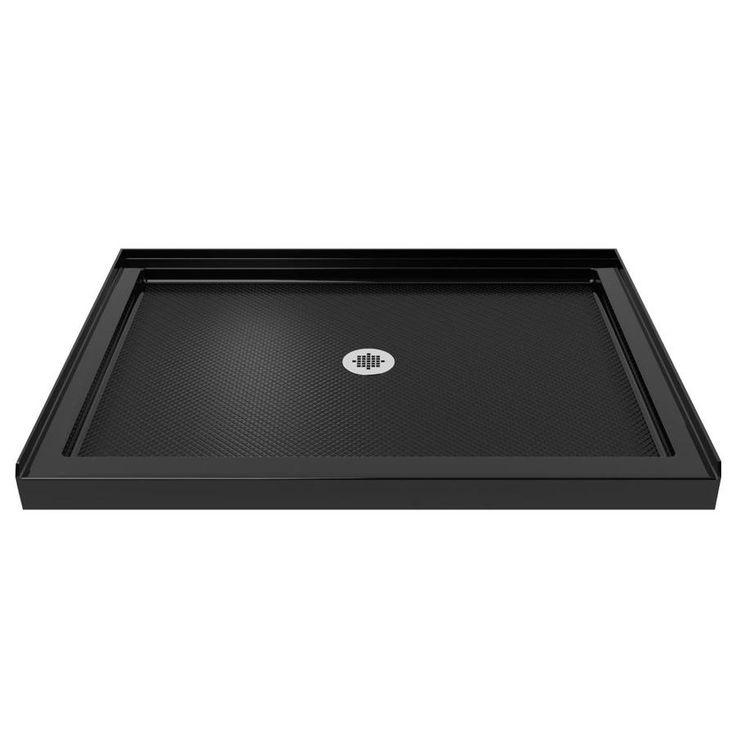 DreamLine SlimLine Black Acrylic Shower Base (Common: 32-in W x 42-in L; Actual: 32-in W x 42-in L)