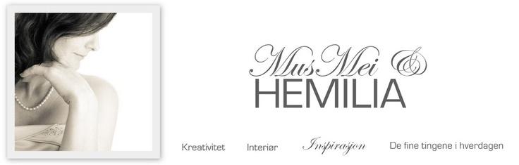 MusMei og HEMILIA (kategori oppskrifter - MYE FINT)