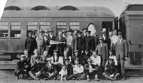 First Train Load Of World War One Troops From Lethbridge 1914
