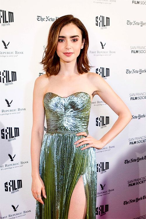 Lily Collins attends the Premiere of 20th Century Fox's 'Rules Don't Apply' at the Castro Theatre on November 21, 2016 in San Francisco, California.