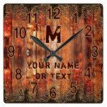Cool Rustic Clock Personalized with YOUR TEXT  #Clock #Cool #personalized #Rustic #RusticClock #TEXT The Rustic Clock