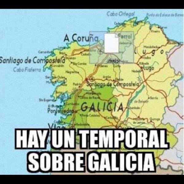 Un temporal sobre Galicia. #humor #risa #graciosas #chistosas #divertidas