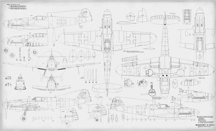 Messerschmitt BF 109 Plans Drawings