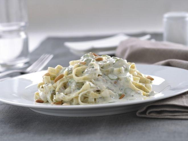 Receta Otro : Pasta con philadelphia finas hierbas y champiñones por…