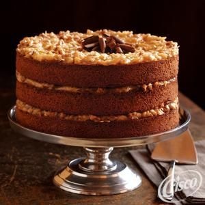German Chocolate Cake with Coconut Pecan Frosting from Crisco