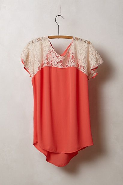 Lace Penumbra Blouse  #anthropologie
