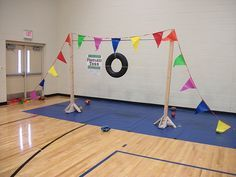 football toss ... could do this with inflatable life preserver and wiffle ball or foam football