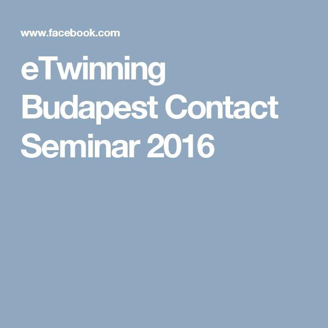 eTwinning Budapest Contact Seminar 2016
