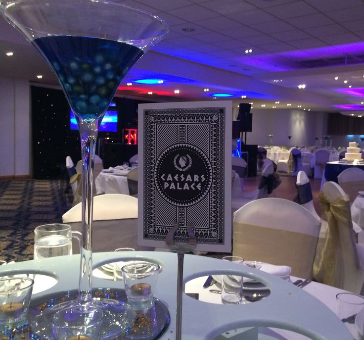 Las Vegas Themed Wedding Reception