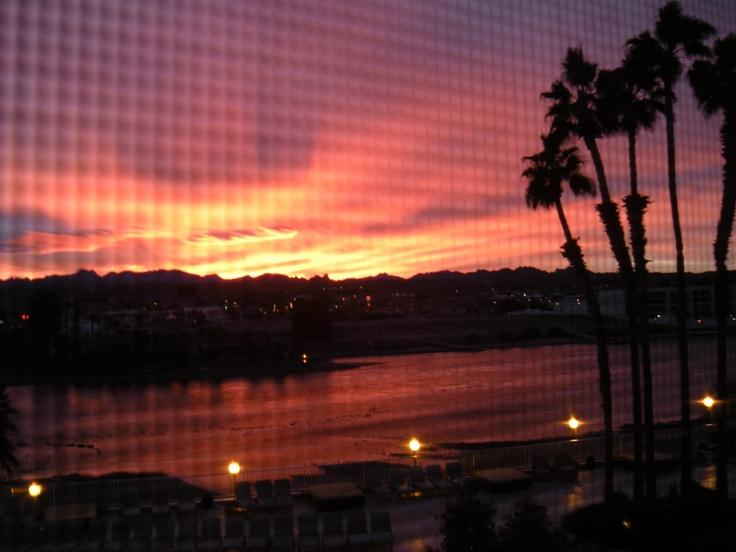 Christmas morning sunrise in Laughlin Nevada ~ 2012