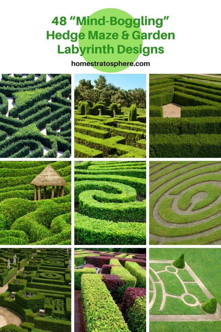 48 Mind Boggling Hedge Maze Garden Labyrinth Designs Hedgemaze