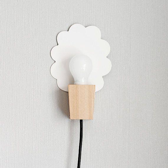 wall lamp/ cloud / black