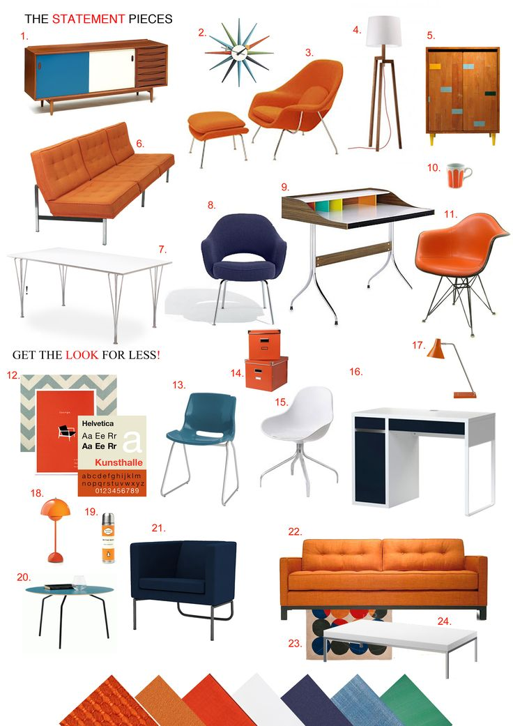 Mad Men Retro Revival - Late 1960's Office interiors