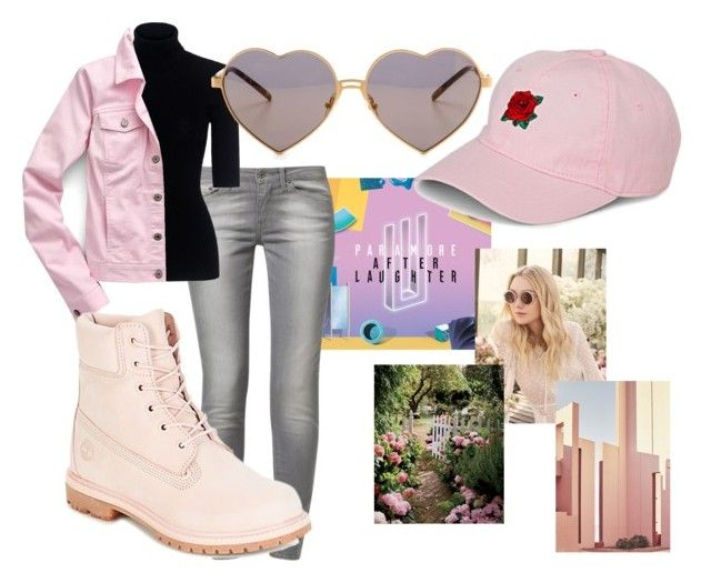 """Paramore Inspired: Rose Colored Boy Outfit"" by softoctobernight on Polyvore featuring Simons, Jimmy Choo, Ricardo, Levi's, Theory, Wildfox, Talbots and Timberland"