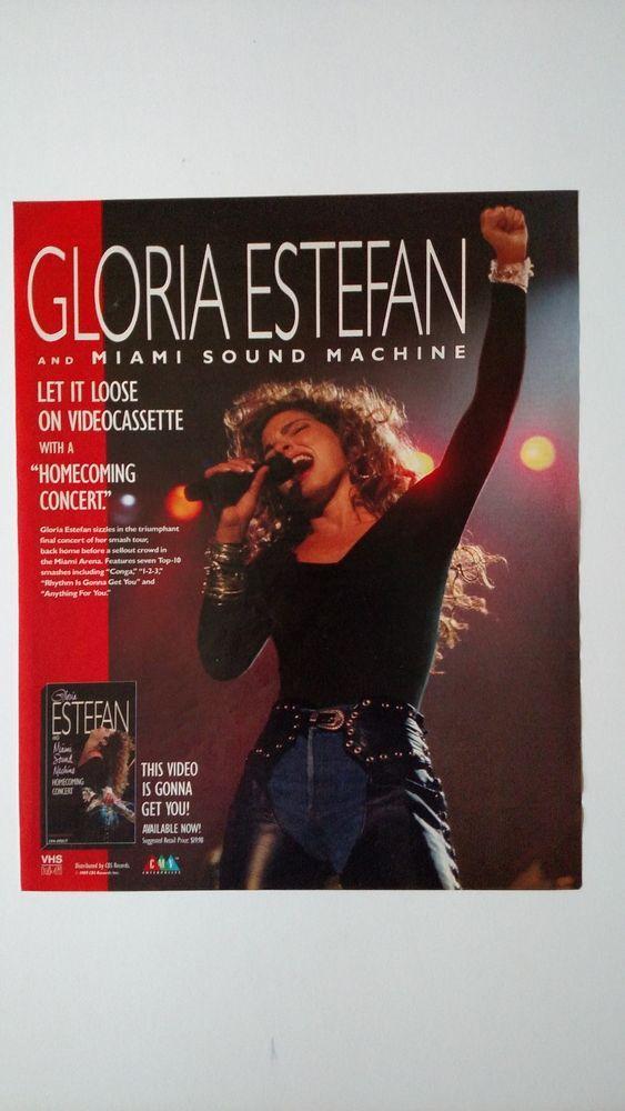 Gloria Estefan Quot Homecoming Concert Quot Rare Original