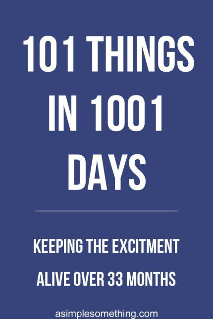 101 Things in 1001 Days. The number of things is catchy and the number of days is supposed to make you feel that you have all the time in the world. But sometimes the journey hits a roadblock. Refresh your outlook on your goals and enjoy the journey. #101in1001 #bucketlist