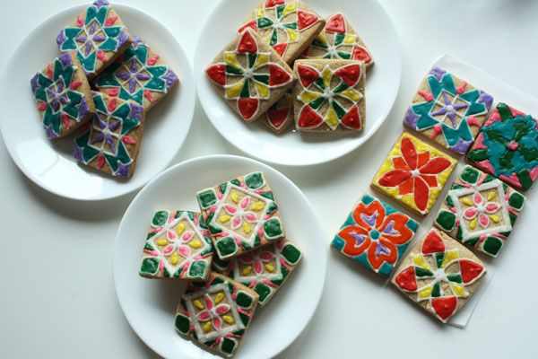 Rangoli Cookies. And They're Eggless! · Edible Crafts | CraftGossip.com
