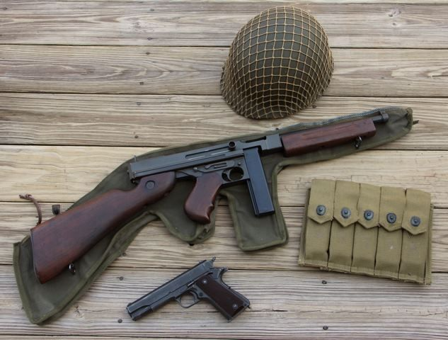 Thompson smg and 1911