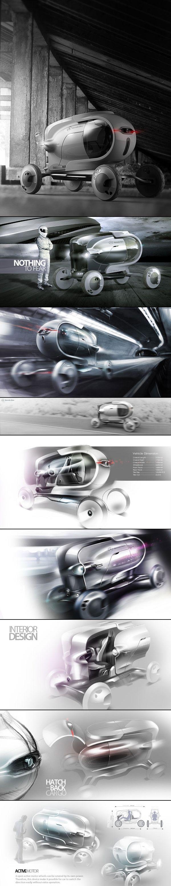 Mercedes-Benz Capsule concept by Jason Chen
