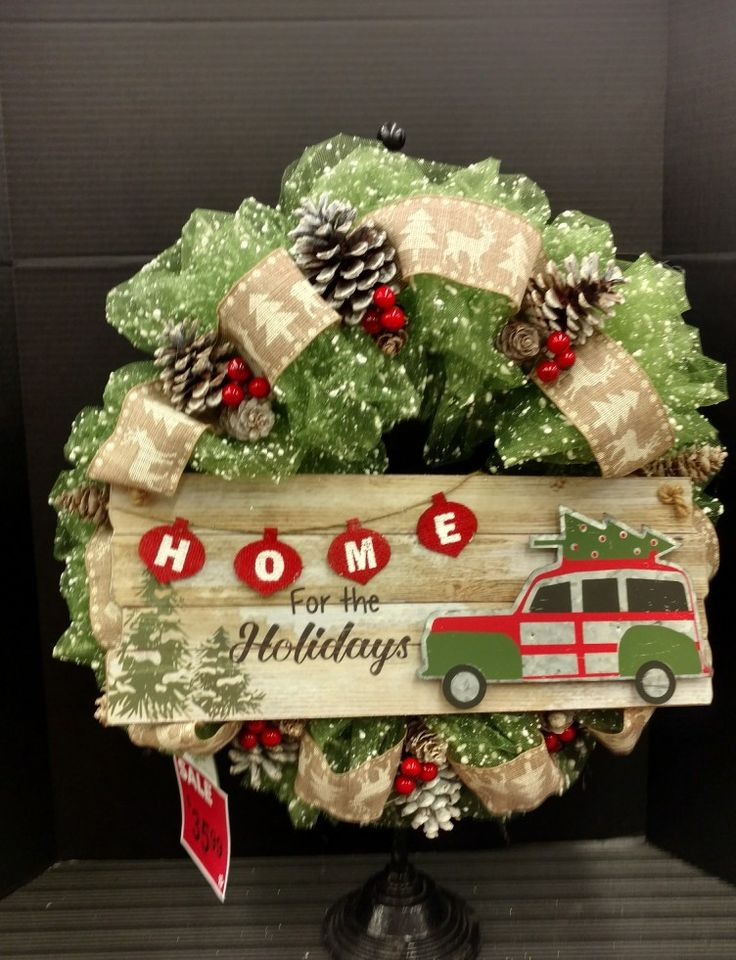 Deco Mesh Wreath by Laura Lake @AC Moore Home for the Holidays