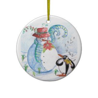 PENGUIN'S SERENADE CHRISTMAS ORNAMENTS